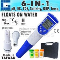 Wholesale Ph Orp Tds - M0199720 Digital 6-in-1 MultiFunction Pentype Water Quality Meter pH Temperature Conductivity TDS Salt Tester optional ORP Made in Taiwan