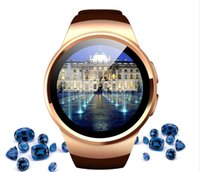 Stile di business KW18 Round shapel Bluetooth SIM Card monitor di salute tracker chiamata remote controlfor android e IOS APP Men smart phone watch
