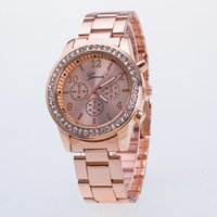 Wholesale Men Rose Gold Watches - New Fashion Men Watch Crystal Male Quartz moment gold silver rose gold modern mens uxury fashion business wristwatches free shopping
