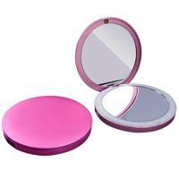 Wholesale Mirror Portable Vanity - Vanity Makeup Smart Mirror Lights Power Bank 3000mAh Decorative LED Mirror Portable Mobile Phone Charger External Battery Pack