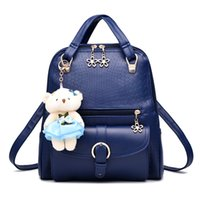 Wholesale red pink bags little online - Shoulder bag new tide female backpack spring and summer new students fashion women girls casual cute little bear bags