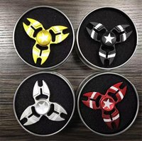 Wholesale Superman Sport Dhl - Newest Spider Man The Captain America Superman Hand Spinner Zinc alloy Spinner Fidget Toy EDC ADHD Finger Gyro Toy DHL Free BEY067