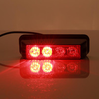 Wholesale Emergency Warning Leds - Gledto 4 LEDs 12W Law Enforcement Waterproof Emergency Hazard Warning Flashing Car SUV Truck Vehicle Construction LED Top Roof Mini Bar Stro