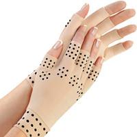 masajeador de terapia de manos al por mayor-Arthritis Therapy Gloves 1Pair Relief Arthritis Pressure Pain Cure Articulaciones Therapy Gloves Support Hand Massager