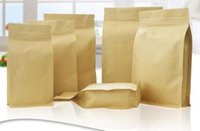 Wholesale Seal Paper Bags - Multi size eight side sealing kraft paper bag thickening food packing bag 3D stereo