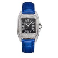 Wholesale Davena Watches - 2017 Davena watch waterproof diamond quartz watch fashion leather watch Korean table square plate personality temperament