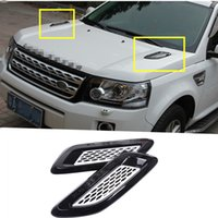 Wholesale Air Vents Hood - Exterior Hood Air Vent Outlet Wing Trim For Land Rover Freelander 2 2011-2015 2pcs free shipping