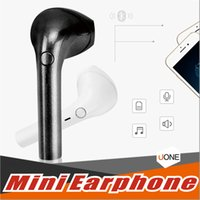 Wholesale iphone sound bluetooth - V2 mini Wirelss Bluetooth Earphone Free-hand Portable Stereo Sound Headset Sweatproof Earbuds With Noise Cancelling And Mic With Retailbox
