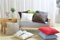 Wholesale Cable Throw - Free Shipping Fashion Knit Cushion Pillowcase Cover 100% Cotton Cable Knit Throw Pillows Cover For Home Decoration 18*18 Inch (45*45cm)