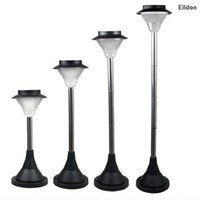 Wholesale Stainless Steel Solar Path - LED Solar Garden Floor Lights 300LM 23-100cm ABS+Stainless Steel Home Path Lamps Outdoor Waterproof Decorations Landscape Lighting in Yard