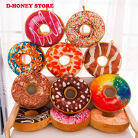 Wholesale Plush Pillows For Kids Toy - 40cm New style Doughnut Shaped Ring Plush Soft Novelty Style Cushion Pillow Donut pillow Funny For Kids Gift