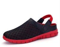 Wholesale Croc Red - 2017 Summer Slippers Plus Size Beach Garden Bath Rain Sandals Shoes Men Casual Jelly33 Croc Breathable Flip Flops Shoes DK-A927