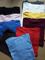 blank t shirts cheap - 100 cotton europe size round neck blank t shirt assort color and size cheap