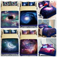 Wholesale twin size bedding sets cover 3d online - 9 Styles D Galaxy Printed Child Christmas Bedding Sets Europe Type Style Duvet Covers for King Size Bedding Duvet Cover Gift CCA7977 set