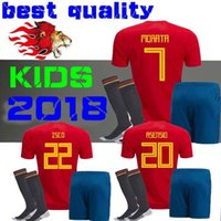 Wholesale Boys Shirts Sale - Spain kids Jersey 2018 ISCO PIQUE SERGIO RAMOS A. INIESTA M. ASENSIO THIAGO MORATA home soccer shirt Football uniforms sales Spain kits