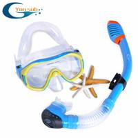 Wholesale diving equipment set - Wholesale- FREE SHIPPING Scuba Diving Equipment Dive Mask + Dry Snorkel Set Scuba Snorkeling Gear Kit