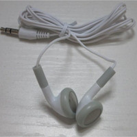Wholesale mini headphone for mp3 resale online - 300pcs White Fashion in ear Earphone Headphone Earbuds mm For Cell phone mobile phone Mp3 Mp4 Mini HD headset