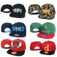 Wholesale Diamond Dmnd - 2016 Diamond 5 Panel Cap Men Women Hat DMND Five Snapback 1998 Hip Hop Caps Camo White Green Snap Backs Strapback Cheap Wholesale