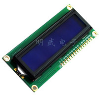 Wholesale Lcd Display Character - Wholesale- 1602 LCD Display Module LCD1602 LCD1602 5V 16x2 Character LCD Display Module Controller blue blacklight Integrated Circuits