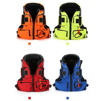 Wholesale life jackets for adults for sale - Group buy Adult Children Polyester Swimming Life Jacket Professional Life Vest For Drifting Boating Survival Fishing Safety Jacket Water Sport Wear Fr