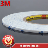 Wholesale 3m 9448 - Wholesale- 2016 Original 4mm* 50M 3M 9448 Black White Double Sided Glue Tape for Screen Front Glass, Phone Touch LCD Screen Assemble
