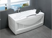 Wholesale customer size small ABS bathtub whirlpool bathtub with comfortable pillow