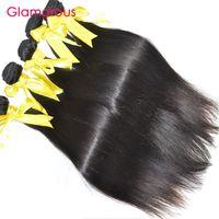 Wholesale Top Quality Remy Brazilian Hair - Glamorous 4 Bundles Brazilian Human Hair Straight Top Quality Malaysian Indian Peruvian Virgin Hair Weaving Unprocessed Human Hair for women