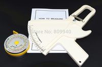Wholesale Bmi Fat - Wholesale- Body fat Caliper (skin fold caliper)+ BMI calculator (BMI body measure tape) Medical Tool