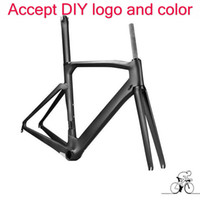 Wholesale Carbon Frame Fork Road - 2017 new style carbon frame 1k T1100 road bike carbon frame bicycle carbon frame+fork+seatpost+headset+clamp free shipping