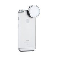 Wholesale Led Lights Panel Video - Wholesale-Newest YONGNUO YN06 Flash Speedlite LED Photo Light Silver Round Led Video Panel for iPhone 6 6S Plus and Smartphone
