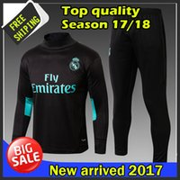 Wholesale Men Suits Free Shipping - 2017 2018 best quality Real Madrid training suits 17 18 real madrid tracksuits RONALDO hoodie free shipping