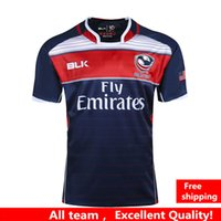 Wholesale Usa Rugby Xl - NRL National Rugby League USA United States Rugby jerseys navy blue 2016 2017 USA rugby mens shirts Sport shirt S-3XL