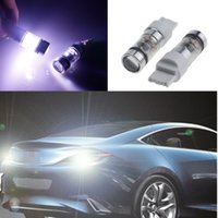 Wholesale Led 3457 - 2PCs Auto Car T25 3157 Led Bulbs Xenon White With Lens Projector 3057 3457 4157 3047 Amber Red Brake Tail Stop Parking Lamps