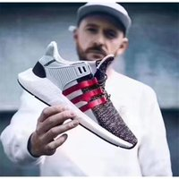 Wholesale Top Quality Fish Bowls - 2017 Overkill X EQT Coat of Arms Pack Better Than Real Fish scales Boost Top Quality Men Running Sneakers Black White Red With Original Box