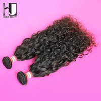 Wholesale Hj Hair - Wholesale-HJ Hair Unprocessed Virgin Peruvian Hair Water Wavy 6A Grade 2pcs lot Peruvian Hair Bundles Factory Outlet Price Free Shipping