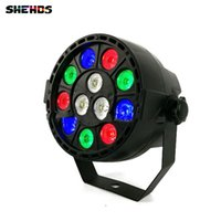 LED Flat Par 12x3W RGB Lighting Light Stage Light Light con DMX512 para disco DJ ktv proyector máquina Party Decoration, SHEHDS