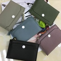 Wholesale Envelope Wallets - New lychee pattern clutch bags leather wallets fashion leather handbags large capacity multi-card bags 6 colors free shipping