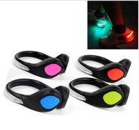 online shopping Led Luminous Shoes - LED Luminous Shoes Clip Light Night Safety Warning LED Bright Flash Light For Running Sports Cycling Bicycle Shoes Clip