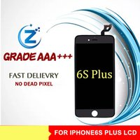 Wholesale Display Iphone S - Grade A +++ White Black IPhone6 s Plus Cellphone Screen For Apple 6s Plus LCD Screen 5.5 Inches Mobile Phone Display Free Shipping