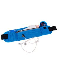 Wholesale black hole pack - Wholesale- [10*40cm] Quality Multifunction Running Waist Bag Sport Packs For Music With Headset Hole-Fits Smartphones Sports Bags Well Sell