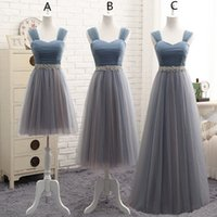 Wholesale Fast Shipping Bridesmaid Dresses - Capped Tulle Bridesmaid Dresses Lace Up 2018 In Stock Wedding Formal Dresses Lovely Bridesmaid Gowns Fast Shipping`
