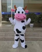 Wholesale Cow Cartoon Costume - Hot New Zealand cow mascot clothing cattle cartoon character clothing adult size