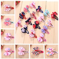 Wholesale 16 Colors Inch Fashion Baby Ribbon Bow Hairpin Clips Girls Large Bowknot Barrette Kids Hair Boutique Bows Children Hair Accessories CB144