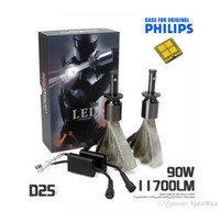 6000K spot cars - 90W LM For Genuine PHILLPS Car LED Headlight Kit Set H1 H3 H4 H7 H9 H11 HB3 HB4 HB5 H13