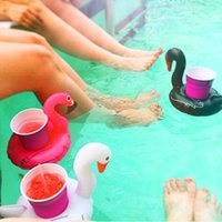Wholesale Beer Pool - Inflatable Drink Cup Holder PVC Inflatable Swan Flamingo Beer Drink Cup Holder Pegasus Floating Pool Drink Holder for Party