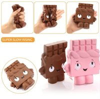 Wholesale Pink Bread - 13cm Squishy Jumbo Pink Coffee Chocolate Kawaii Slow Rising Soft Squeezed Cute Hand Pillow Cream Scented Bread Squeeze Gift Stress Toy