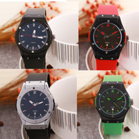 Wholesale Colorful Display Watch - Fashion Colorful Auto Date Acrylic Strap Quartz Casuel Analog Display Watch Womens Watch Female CLock Round Dial Gift for Giries Ladies
