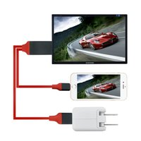 Wholesale ipad tv hdmi adapter resale online - Dock to HDMI HDTV AV TV Cable USB Cable P Adapter for iPhone5 s s plus splus7 plus ipad air air M FT