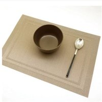 Venta al por mayor cojín del paño Baratos-Venta al por mayor- Placemat Pvc Mesa De Comedor Mat Disc Pads Bowl Pad Coasters Impermeable Table Cloth Cojín Slip-resistente Cojín IC878333