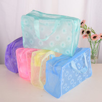 Wholesale Bath Wall Storage - Creative household 4 colors waterproof Cosmetic Bag Travel supplies Wash bag bath supplies storage bag IA873